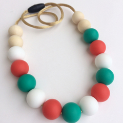 CHRISTMAS EDITION -Washable Silicone Necklace for Kids - Mini-Fox Kids Range