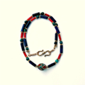 Lapis, Turquoise and Coral Nepal Necklace