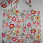 Floral eco-friendly shopping bag