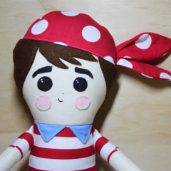 Boy pirate soft toy doll