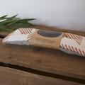 wheat sacs™ mini - copper block print on grey