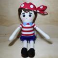 Boy pirate soft toy doll