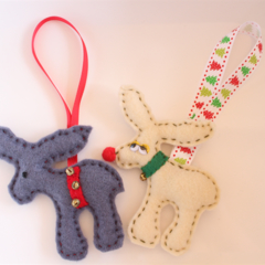 Reindeer Christmas Decoration Duo