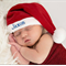 Christmas Santa Hat with Personalized child's name for Baby Girl or Boy.