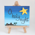 Miniature canvas art - Christmas. O Holy Night