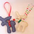 Reindeer Christmas Decoration Duo
