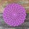 Crochet doily, royal purple, teacher's gift, mother's day, mum
