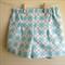 Argyle Check Shorts. Faux front pleats, elastic back. Size 1. Nappy Cover.