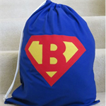 SUPERHERO PERSONALISED LIBRARY BAG