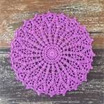 Crochet doily, royal purple, teacher's gift, teacher appreciation gift