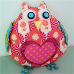 Mother Owl Softie plush Pink Heart