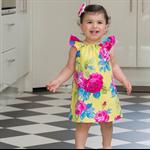 Hello Sunshine Flutter Girl Dress