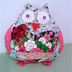 Softies mother owl floral
