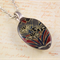 Upcycled/recycled vintage spoon resin pendant necklace, flowers, abstract, print