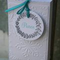 10 Christmas Wreath Tags ~ Christmas Time ~ Peace Tags ~ Wreath Gift Tags