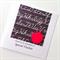 Thanks TEACHER special chalkboard red apple black white card