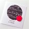 Thank you #1 TEACHER black white chalk board writing red apple card