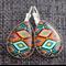 Aztec  ~ Teardrop Lever Back Earrings