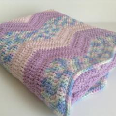 Baby Crochet Blanket | Pure Wool | Cradle | Pram | Cuddle | Hand Crocheted