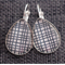 Slate Weave~Teardrop Lever Back Earrings