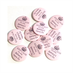 10 Hens party badges - add your text. 'Keep Calm'