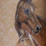 "Mother and Child, Coloured Drawing, PRINT 10""x 14"" Art
