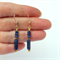 Lapis Lazuli, Agate and Gold Earrings