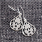 Small Tear Drop Filigree~ Silver Earrings