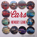 Wooden Memory Matching Game - Cars Edition