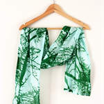 Twig Scarf - Aqua/Green Spun Cotton - NEW!