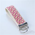 Pink Geometric Key Fobs