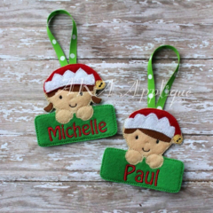 Custom made/ Personalized, Felt Christmas Decoration Ornament Teachers Gift