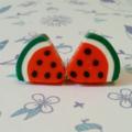 earrings studs summer watermelon fruit