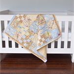 Baby Cot Quilt - Handmade Baby Cot Quilt - Owls - Baby Bedding - Nursery Bedding