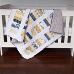 Baby Cot Quilt - Handmade Baby Cot Quilt - Patchwork Quilt - Baby Bedding