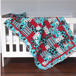 Baby Cot Quilt - Fluffy Jungle - Handmade Baby Patchwork Quilt - Cushion Cover