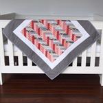 Baby Cot Quilt - Handmade Baby Quilt - Pram Quilt - Crib Quilt - Patchwork Quilt