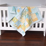 Baby Cot Quilt - Handmade Baby Quilt -  Baby Bedding  - Nursery Decor