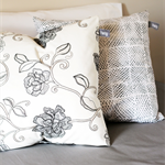 Twig Cushions for the Nest - Ivory Embroidered