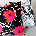 Twig Cushions for the Nest - Black and White Palm Print