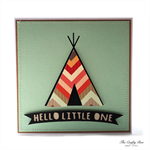 Teepee Baby Blank Greeting Card - Mint