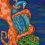 Octopus and Peacock
