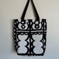 Black & White Fold-up Market Bag