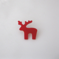 Little Red Reindeer Brooch. Acrylic Deer Brooch.