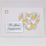 Engagement Card - White, Gold and Silver