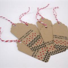 Christmas Gift Tags - set of 6 - Ho Ho Ho