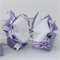 "Loopy stacked bow - ""Purple Swirls"""
