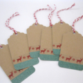 Christmas Gift Tags - set of 6 - Red Deer