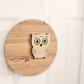 Custom Owl wall art bamboo nursery baby christening 1st birthday personalised