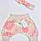 Shorts Harem style pink & white flowers floral pattern, pants toddler & baby